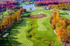 photographie aérienne golf