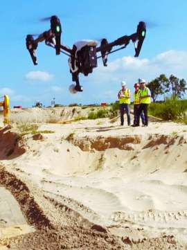 site survey suivi chantier par drone