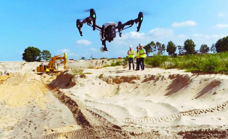 site survey suivi chantier par drone